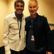 Mark Rivera and John McEnroe