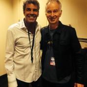 Mark Rivera and John McEnroe