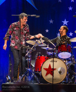 Mark on stage with Ringo Starr