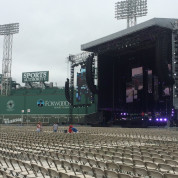 Stage setup at Fenway Park, Boston, MA.