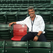 Mark Rivera at Fenway Park