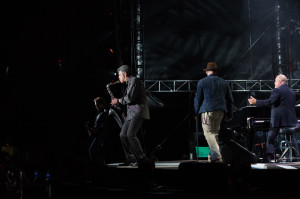 Mark Rivera, Zac Brown and Billy Joel